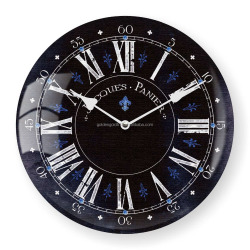 Fashion art design glass cover plastic wall clock