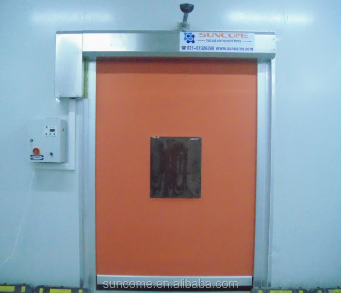 high speed rolling up fabric curtain door