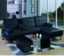 new design leather folding living room sofa cum bed