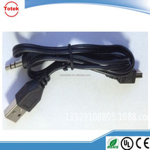High quality usb charger cable to dc 3.5 mm jack