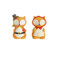 wholesale two lovely fox resin figurines for Thanksgiving decor