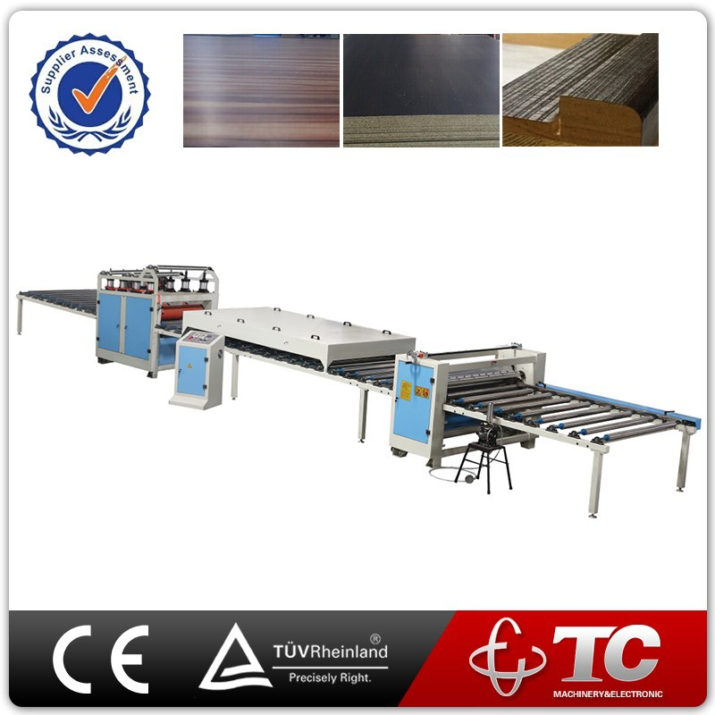 Wood Working Plastic Film Profile PVC Laminating Furniture Machine
