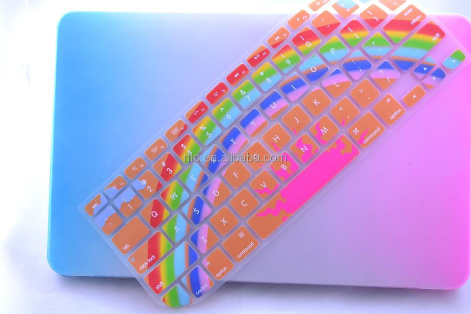 "New Rainbow Silicone Keyboard Cover for Macbook Pro 13""/15""/iMac"