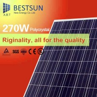 High Quality 230-270W 156*156 Polycrystalline pv Solar Panel price manufacturers in China