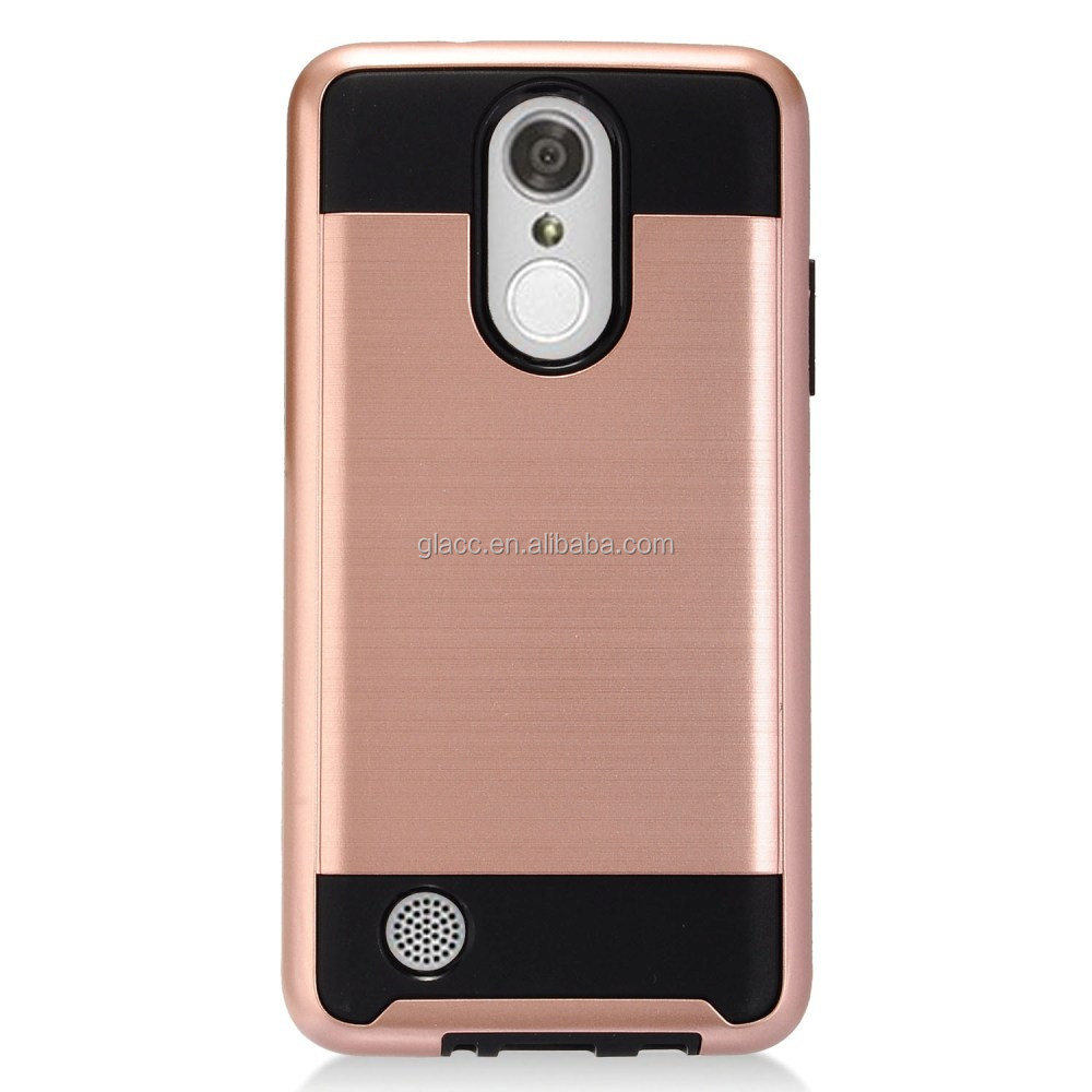 Hot Selling Dual Layer Shockproof Brushed Hard Back Cover Case For LG Aristo/LV3/MS210
