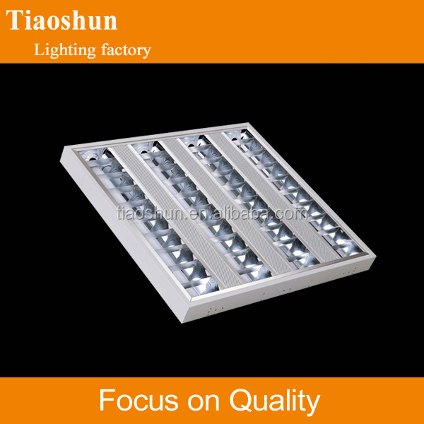 Ceiling louver fitting g13 base t8 fluorescent tube light fixture
