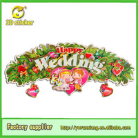 3d wallpapers wedding decoration stiker for room decor