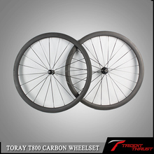New 2015 Chinese Carbon Wheels Thrust WH-38 Aluminum Alloy BrakeSurface 700c 50mm Carbon Fibre Wheels Bike Road Wheelset