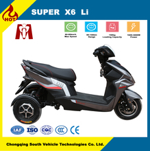 Super X6,electric motorbike 2*800w e motorcycle China factory,Two-wheel hub motor drive electric three-wheel scooter