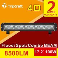 2016 12 24 Volt 100W 120W 180W 240W 260W LED Offroad Light Bar, LED Driving Light Bar, Tractor LED Light Bar with 4d lens