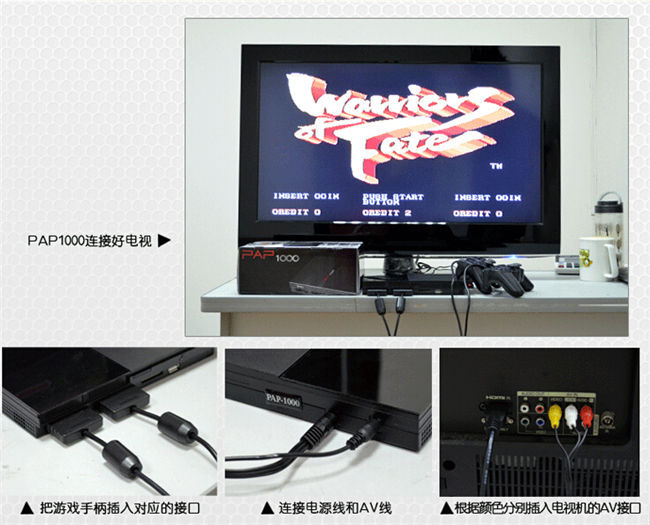 Hot Selling video game machines connect TV video game console with two gamepad build it a lot arcade game