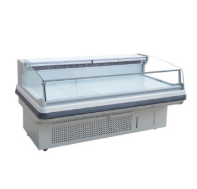 Commercial Open Counter Top Serve Over Used Deli Fish Cold Food Fresh Showcase Meat Display Freezer Refrigerator Cooler Chiller
