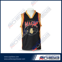 All over sublimation printing basketball jersey uniform design
