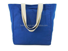 Latest Fashion Resuable Nylon Foldable Shopping Tote Bag dark bule reusable shopping bag