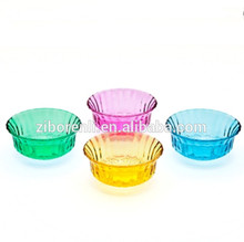 4.5'Dia.Assorted Sprayed Color Food Safe Glass Fruit Dessert Bowl Rennaissance Collection