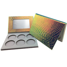 Glitter Rectangle Empty Eyeshadow Cosmetic Packaging Palette Case