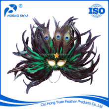 High Quality Manufacturer Directly Luxury Masquerade Party Crafts Fashin Show Mask Peacock Feather Mask