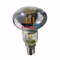 2W 3.5W Silver Reflector R50 led bulb with clear top E12 E14 base
