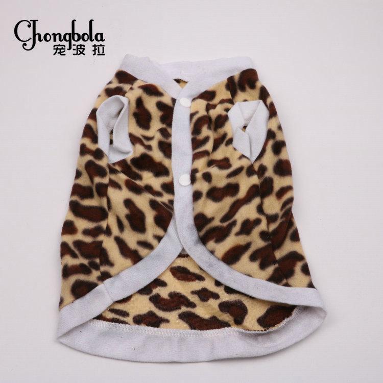 Autumn And Winter Hot Sale Pet Products Dog Clothes Sexy Leopard Print Dog Coat