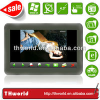 Shenzhen factory sale 4.3 inch gps navigation system bluetooth reverse camera with 128M DDR 4GB memory
