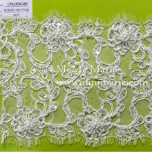 Factory wholesale fashion lace fabric / Nylon and Cotton lace fabric / polyester lace