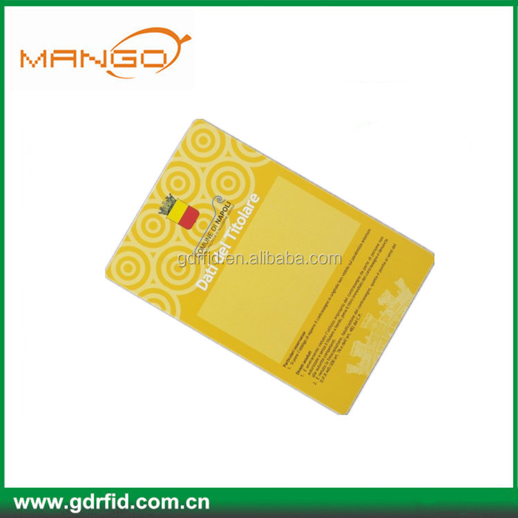 Rewritable 125khz mango PVC rfid smart card t5577 hotel key card