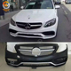 PP Material front bumper Position c-class W205 upgrade C63 AMG PP body kit