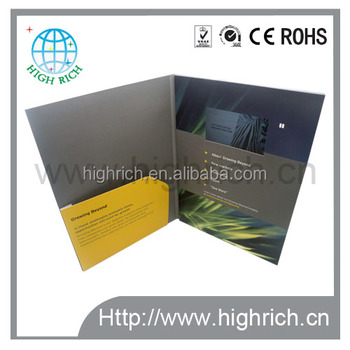 7 inch lcd video brochure card with 256MB memory for Accenture