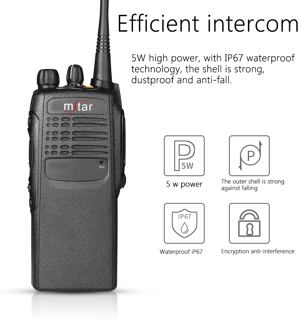Gp340 Two way radio long range handheld vhf radios