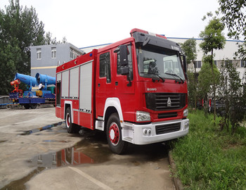 howo ne type fire-extinguishing foam tanker/fire fighting truck