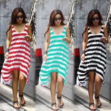 2016 women clothing stripe latest casual dress designs ladies simple fashion dress