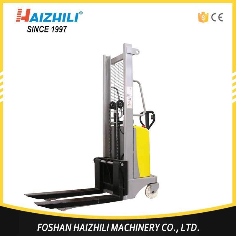 Alibaba factory 3000mm max. lifting height semi electric pallet stacker