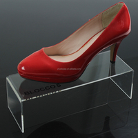Acrylic Shoe Riser Stand Clear Shoe Display Stand
