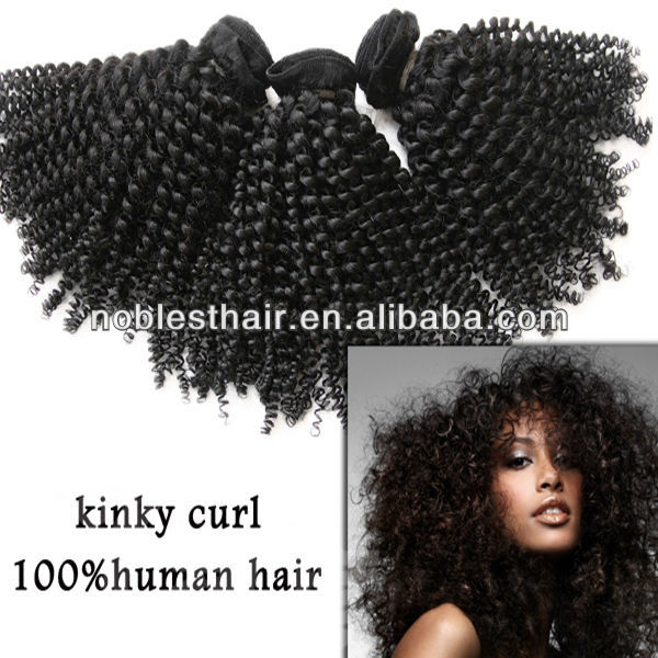 afro kinky straight hair weave brazilian hair in natural color