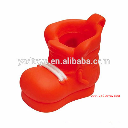 wholesale for advertising and promotional shoes shaped plastic stand pen holder