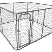 6x5x6' galvanized welded wire mesh large dog boarding kennels for sale