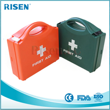 Wall mounted waterproof PP home emergency survival kit plastic medical first aid kit box with handle