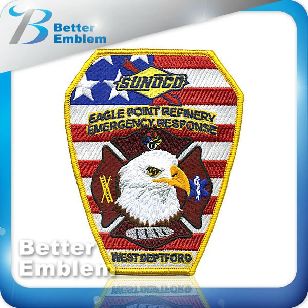 Eagle logo military embroidery patches for clothing