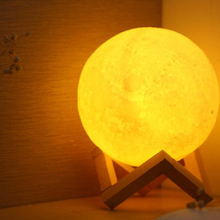 16 colors dia15 cm 3d printing moon lamp with remote control function