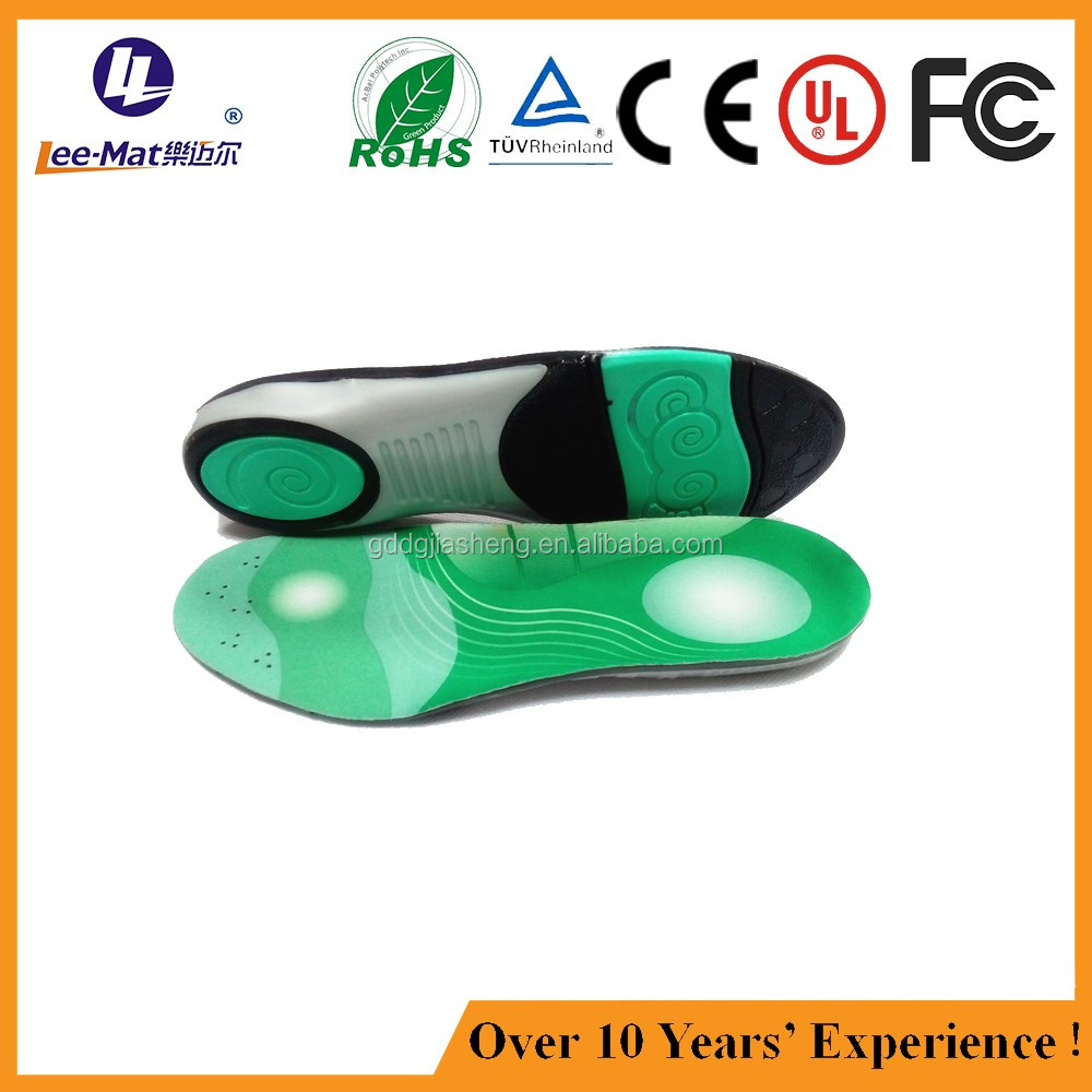 extremely breathable cushioned arch support silicone foot orthotic inner soles