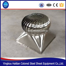China best price stainless steel wind drive roof turbine Professional company low noise air roof ventilator prices