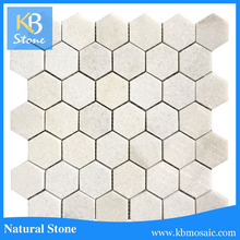 Crystal white marble good price for per square meter wall mosaic tile