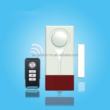 Wireless magnetic sensor door alarm window vibration sensor alarm remote control home safety alarm with LED