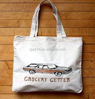 cotton handle paper shopping bags/ reusable cotton road bag/ printed cotton bag packing rice