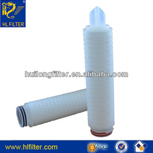 "spun-bonded filter cartridge 10"" 20um pes pleated cartridge filter"