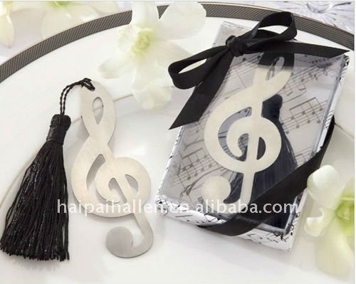 Musical Note Bookmark Favors for wedding favors