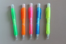 Fluorescent Color Gel Ink Pen Set for 5 Color+plastic ball-point pen