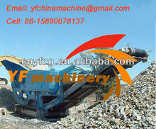 Africa 50 ton per hour construction used granite mobile crusher