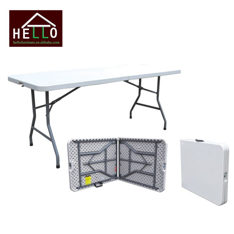 Blow Molded Plastic Top folding picnic table