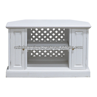 White Painted Picuu TV Cabinet with 2 Doors
